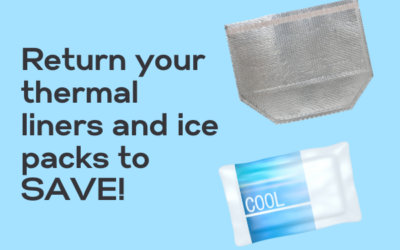 How can I return my thermal liners and ice packs?